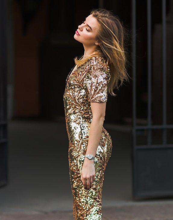 pullu payetli elbise
